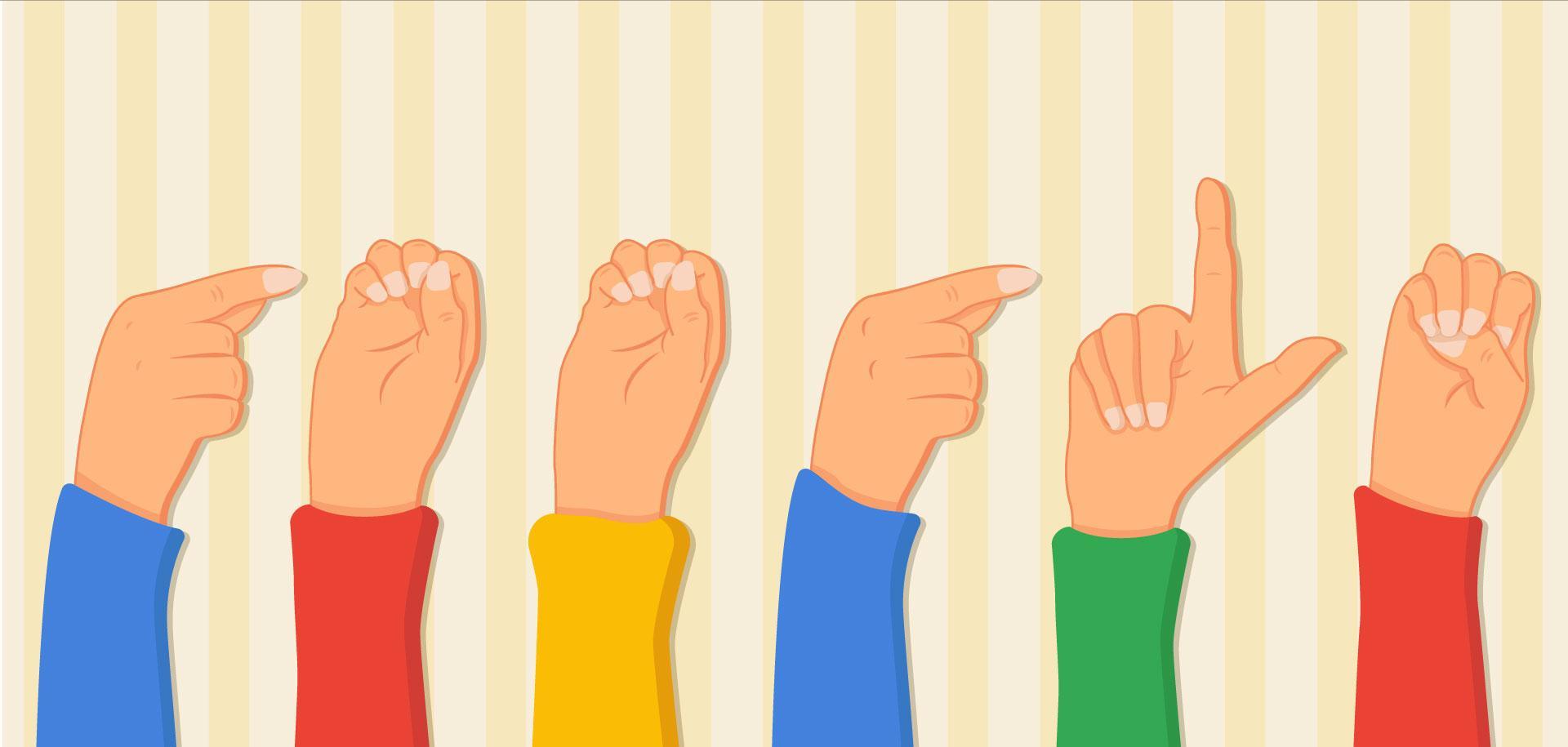 """Google Doodle med henblik på at være til """"Tegnsprogsdag"""""""