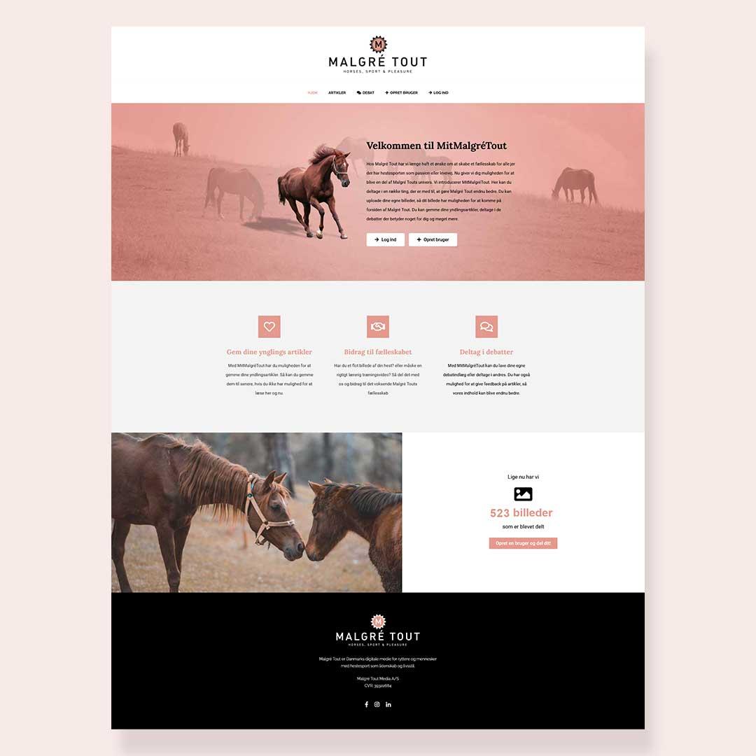Hjemmeside for Mit Malgré Tout