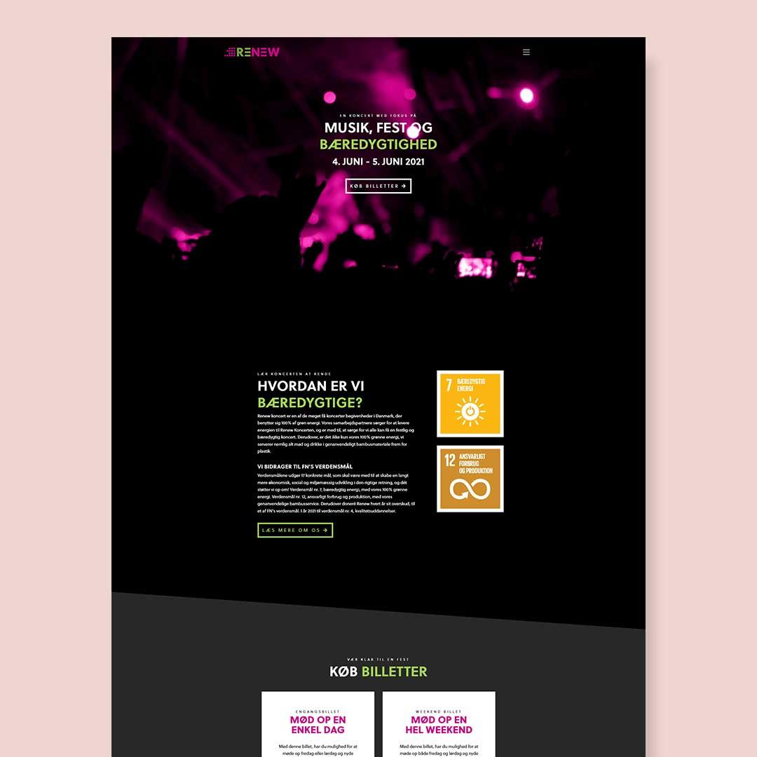 Hjemmesidedesign til RENEW - en opdigtet virksomhed