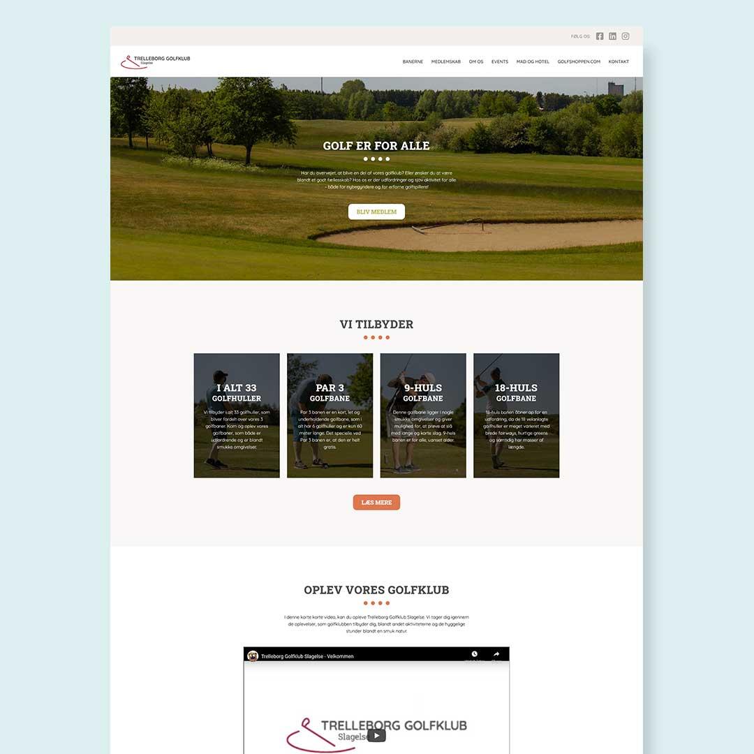Hjemmeside forslag til Trelleborg Golf